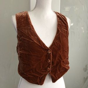 Free people velvet copper vest